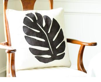 Amani Leaf Pillow | $36